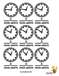 mighty minute learning for kids clocks free coloring minutes