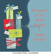 eps vector of vintage christmas background with christmas gifts