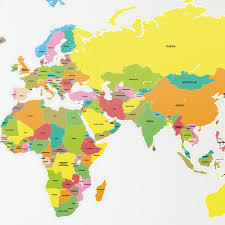 Uk World Map by Wall Stickers World Map