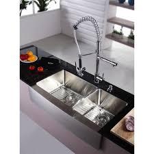 kraus khf203 36 kpf1602 ksd30ch stainless steel farmhouse kitchen