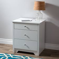 Bedside Charging Station Vito Transitional 2 Drawer Nightstand With Charging Station Pure