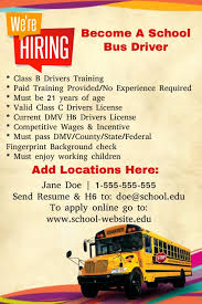 now hiring bus drivers template postermywall