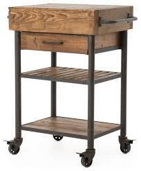 rustic kitchen islands and carts kershaw rustic reclaimed wood and iron kitchen cart rustic