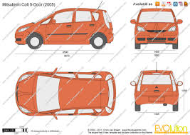 mitsubishi car 2005 the blueprints com vector drawing mitsubishi colt 5 door