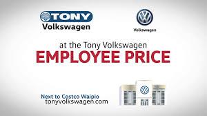 nissan canada employee pricing tony volkswagen employee price event 30 youtube