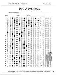 examen de 5 grado con respuestas 3er grado bloque 2 clave de respuesta