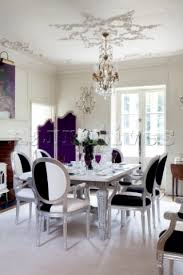 black and white dining room large open spaces black and white
