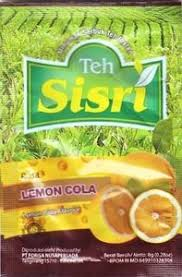 Teh Sisri tea bag rasa lemon cola lemon cola flavour teh sisri indonesia