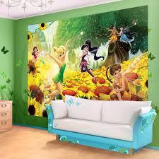 11 cute fairy wall murals and fairy wall decals for girls disney fairies sunflowers wallpaper mural
