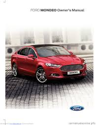 ford mondeo 2014 4 g owners manual