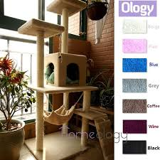 qoo10 pet station cat scratching tree with hammock kitten house