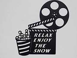 Home Movie Theater Wall Decor Amazon Com Clapboard Movie Reel Relax Enjoy The Show Home Movie