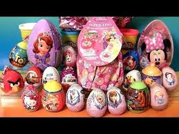 easter egg surprises princess kinder eggs disney frozen elsa minnie