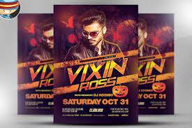 vixin halloween club flyer template flyer templates creative