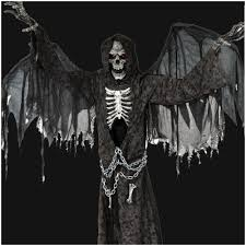 halloween grim reaper prop huge 7ft angel of death animated prop mad about horror