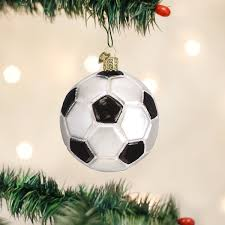 soccer ornaments to personalize world christmas soccer glass blown ornament