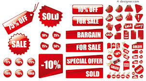 4 designer clearance sales vector material