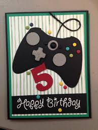 birthday card for my little gamer yup made it myself