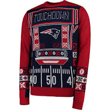 mens light up ugly christmas sweater new england patriots klew navy light up ugly sweater