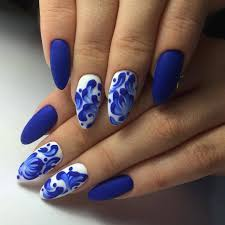 blue matte nails the best images bestartnails com