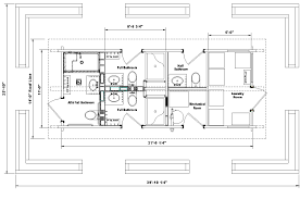 Half Bath Floor Plans Prairie Kraft Specialties Log Cabin Manucturing Bathrooms