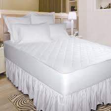newpoint quiet waterproof cotton mattress pad white walmart com