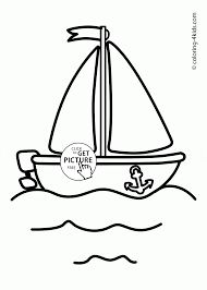 cute boat coloring page for toddlers transportation coloring