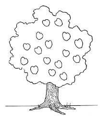 apple tree coloring pages little and happy apple tree colouring page happy colouring
