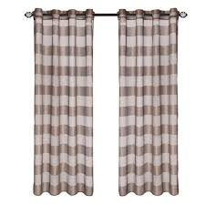 Drapery Panels With Grommets Lavish Home Beige Mia Jacquard Grommet Curtain Panel 84 In