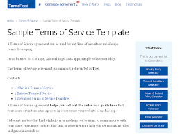 100 sample privacy policy template termsfeed sample privacy