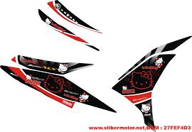 Modifikasi mobil dan motor striping modifikasi yamaha new jupiter mx hello kity stikermotor new mx hello kity 2