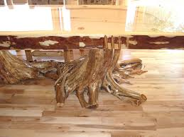 Cedar Table Top by Custom Log Furniture Ryan U0027s Rustic Railings In Orr Mn
