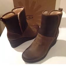 ugg renatta sale 47 ugg shoes ugg wedge nubuck leather brown