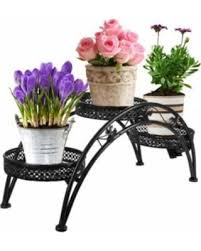 Garden Wrought Iron Decor Amazing Deal On Dazone Wrought Iron Pot Plant Stand For Three