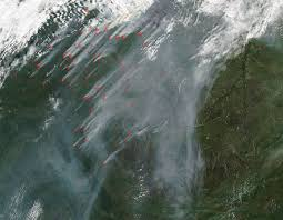 Wildfire Bc Map Interactive by Smoke From British Columbia Fires Heading To The Coast Nasa