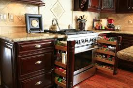 custom kitchen cabinet ideas spice rack pullouts built in to stove kitchen cabinets