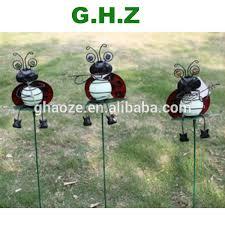 metal garden ornaments solar butterfly garden stick light factory