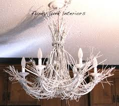 Twig Light Fixtures Lighting Up My With A White Twig Chandelierfunky Junk Interiors