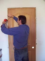 Interior Door Fitting Tips Ideas How To Install A Prehung Door Installing A Door