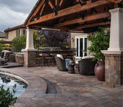Belgard Brighton Fireplace by Trends In Modern Masonry Poolscapes Orange County Masonry