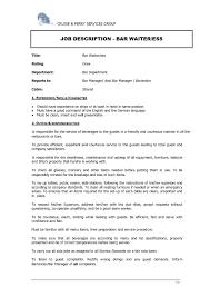 Hostess Resume No Experience Resume Waitress Responsibilities Waiter Waitress Cv Examples