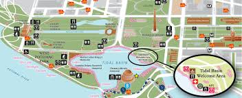 Washington Dc Area Map by Directions Cherry Blossom Festival U S National Park Service