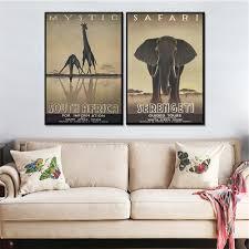 Giraffe Home Decor by Online Get Cheap Elephant Giraffe Canvas Aliexpress Com Alibaba
