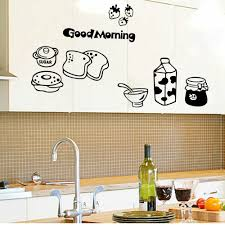 Dining Room Decals Ksol Good Morning Breakfast Combination Wall Decals Warm Family
