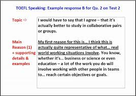 Video Resume Script Example by Toefl Speaking Question 2 Example Answer With Script Youtube