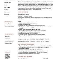 Resume Of Nanny Download Nanny Resume Template Haadyaooverbayresort Com