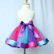 2018 children rainbow tutu skirt dress baby