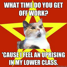 What Time Meme - what time do you get off work cat meme cat planet cat planet