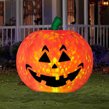 halloween eye contacts walmart 5 ft airblown inflatables projection fire and ice pumpkin large