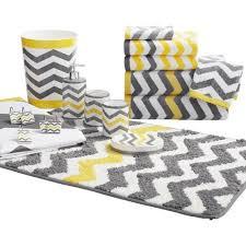 Yellow And Gray Bathrooms - mainstays chevron bath rug yellow walmart com